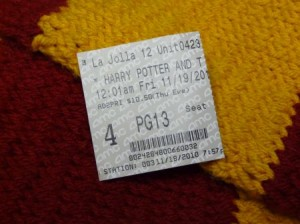 Harry Potter and the Deathly Hallows Part 1, midnight screening